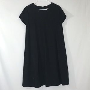 J. MCLAUGHLIN Black Ponte Knit Shirtdress